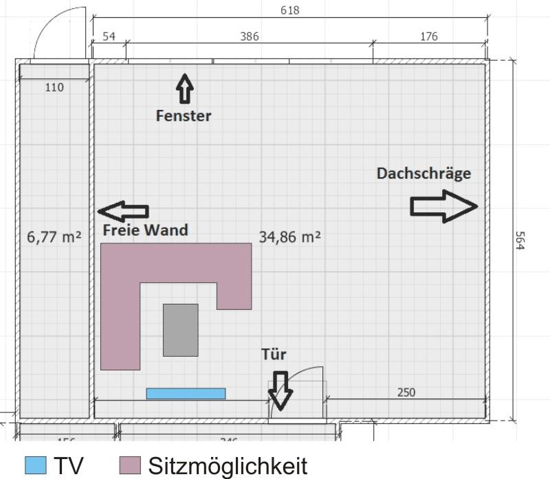 beratung für 35m² wohnzimmer zimmer einrichten • ef, Wohnzimmer